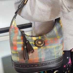 Dooney & Bourke Sm Plaid CoatedCanvas Handbag Hobo